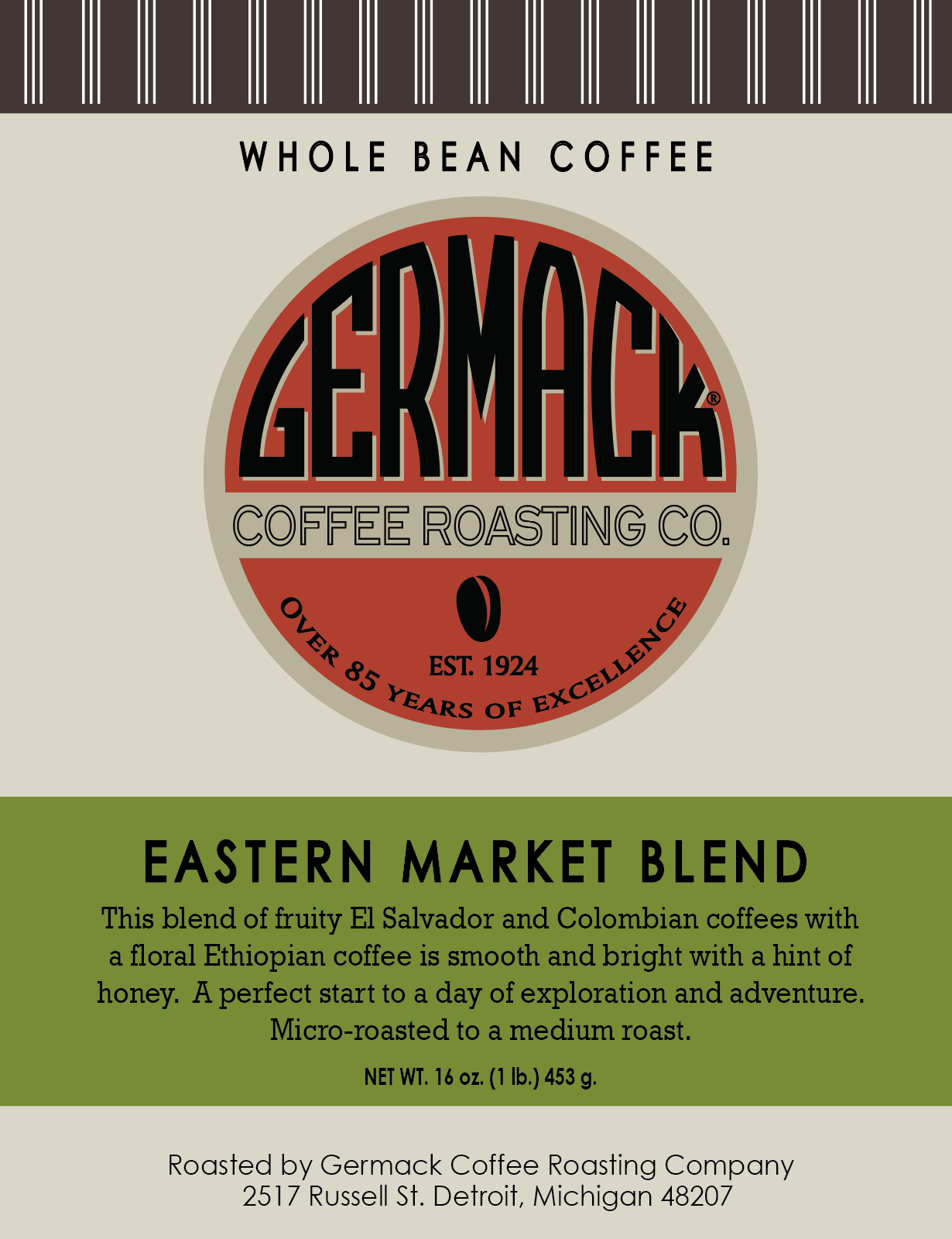Picture Germack Coffee Eastern Market Blend -  1 lb.