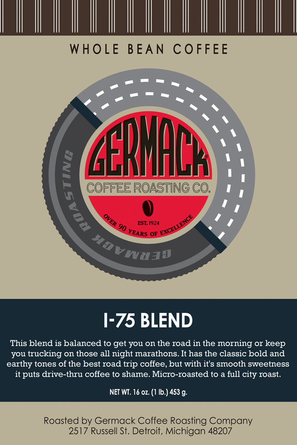 Picture Germack Coffee I-75 Blend - 1 lb.