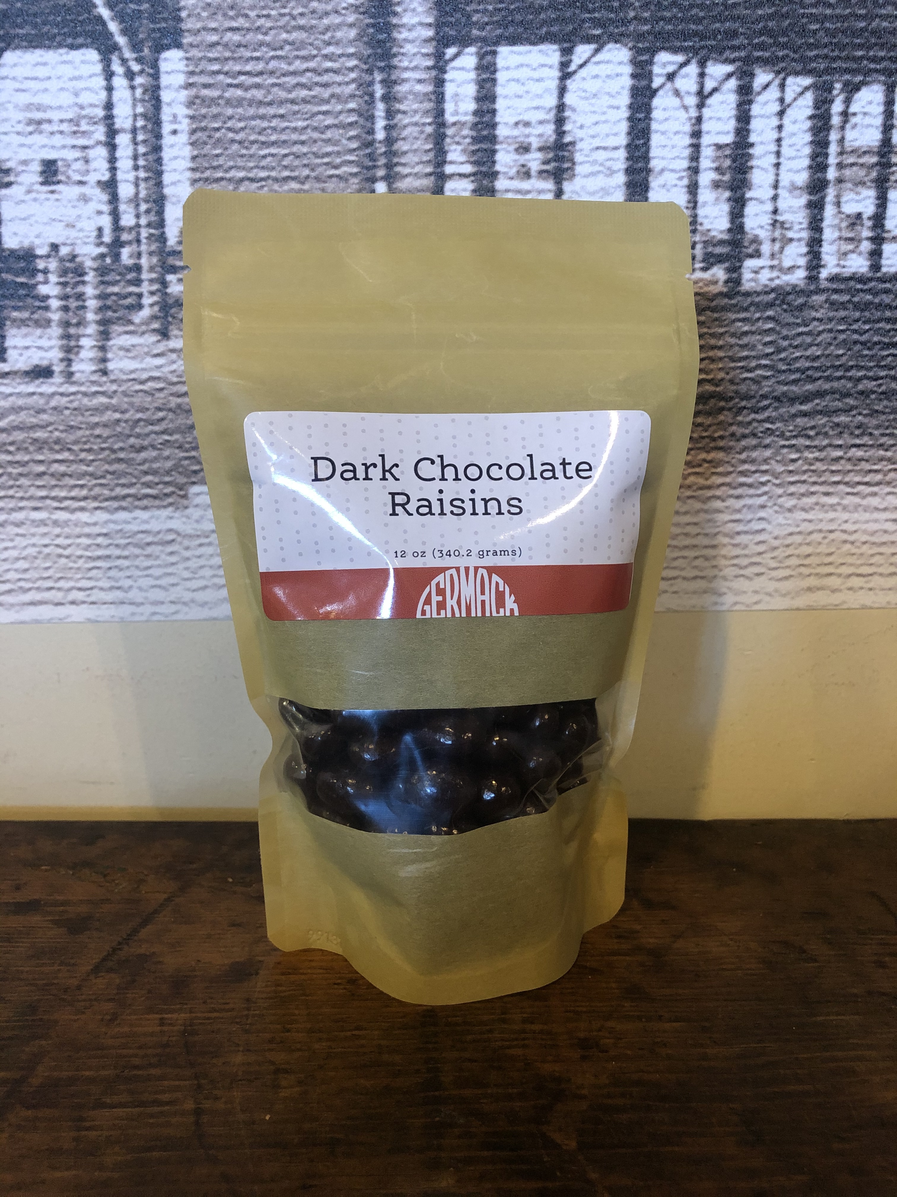 Picture Dark Chocolate Raisins 12oz