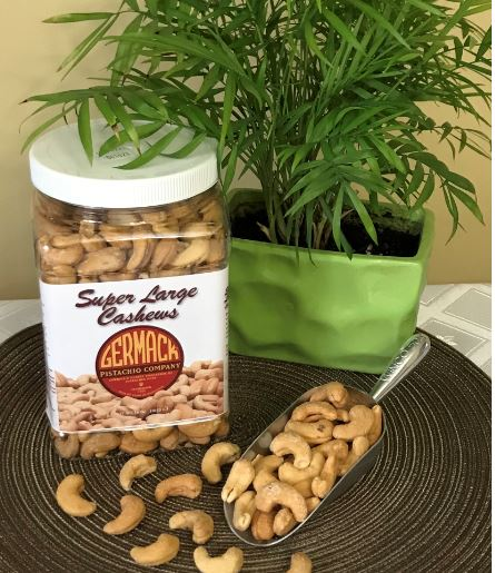 Picture Cashews - Super Large Whole - Roasted, Salted 36 oz  Jar. C6