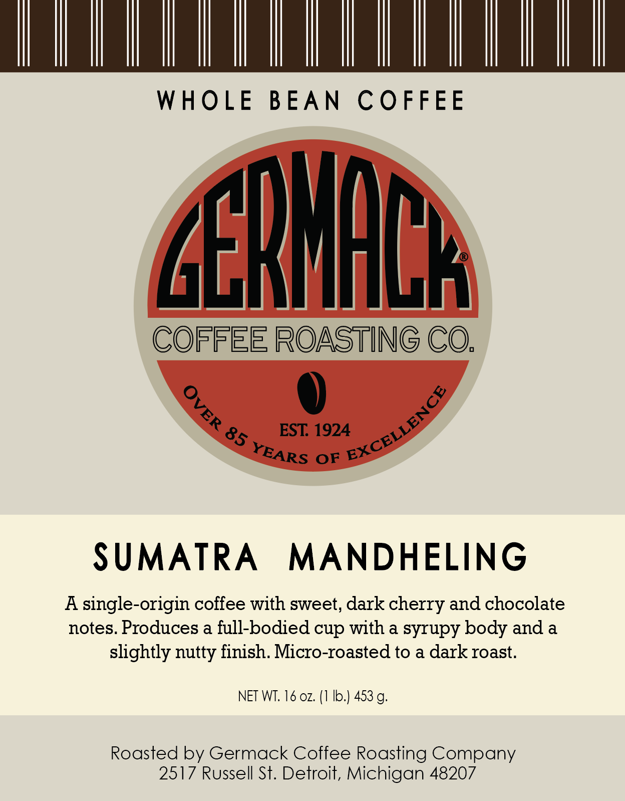 Picture Germack Coffee Sumatra - 5lb