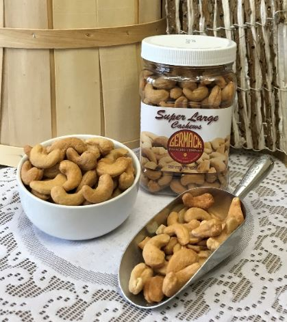 Picture Cashews - Super Large Whole - Roasted, Salted 16 oz Jar C12