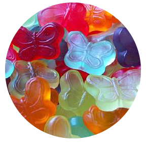 Picture Gummy Butterflies - 1 lb.