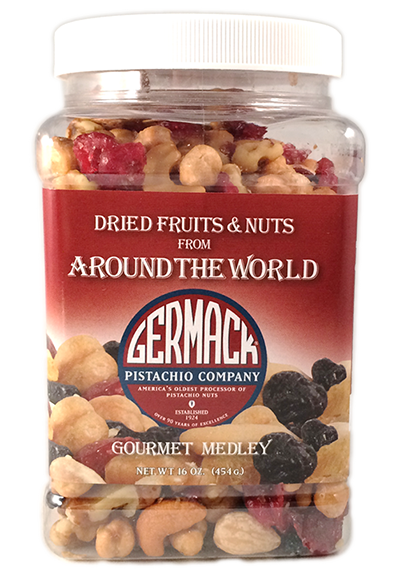 Picture Dried Fruits & Nuts from Around the World - 16 oz Jar