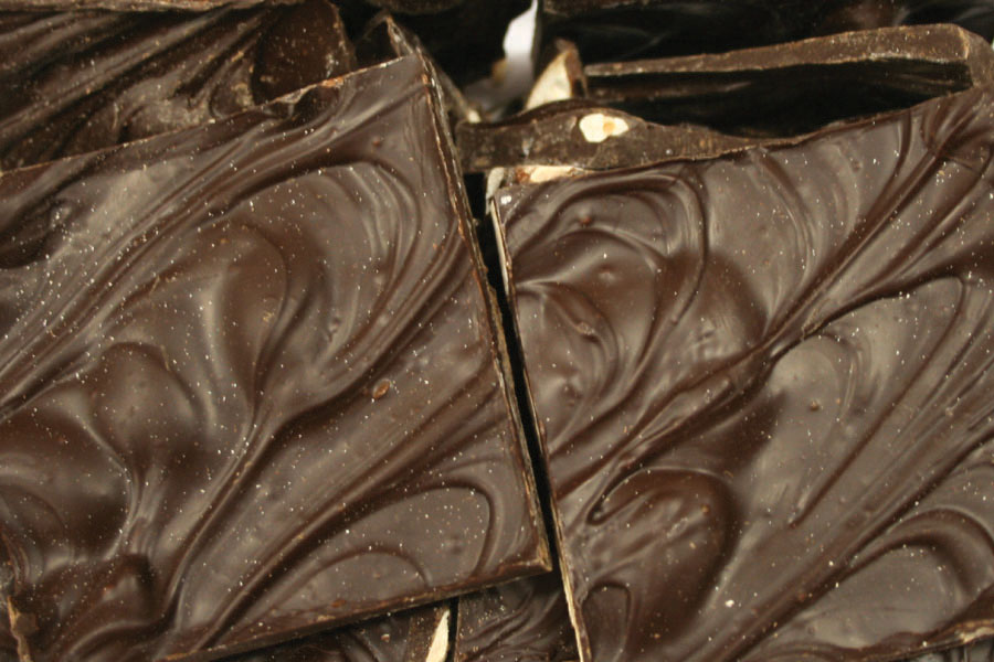 Picture Dark Chocolate Almond Bark - 16 oz. - Holiday