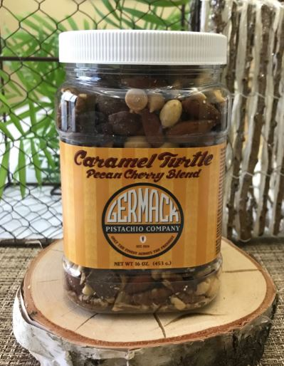 Picture Caramel Turtle Pecan Cherry Blend - 16oz Jar