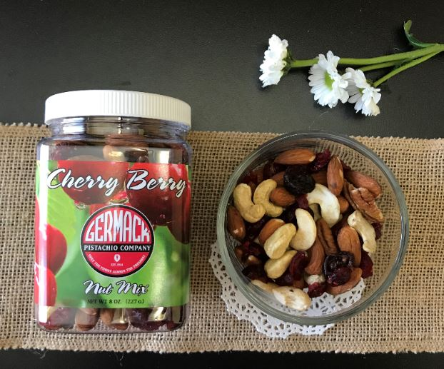 Picture Cherry Berry Nut Mix- 8oz Jar