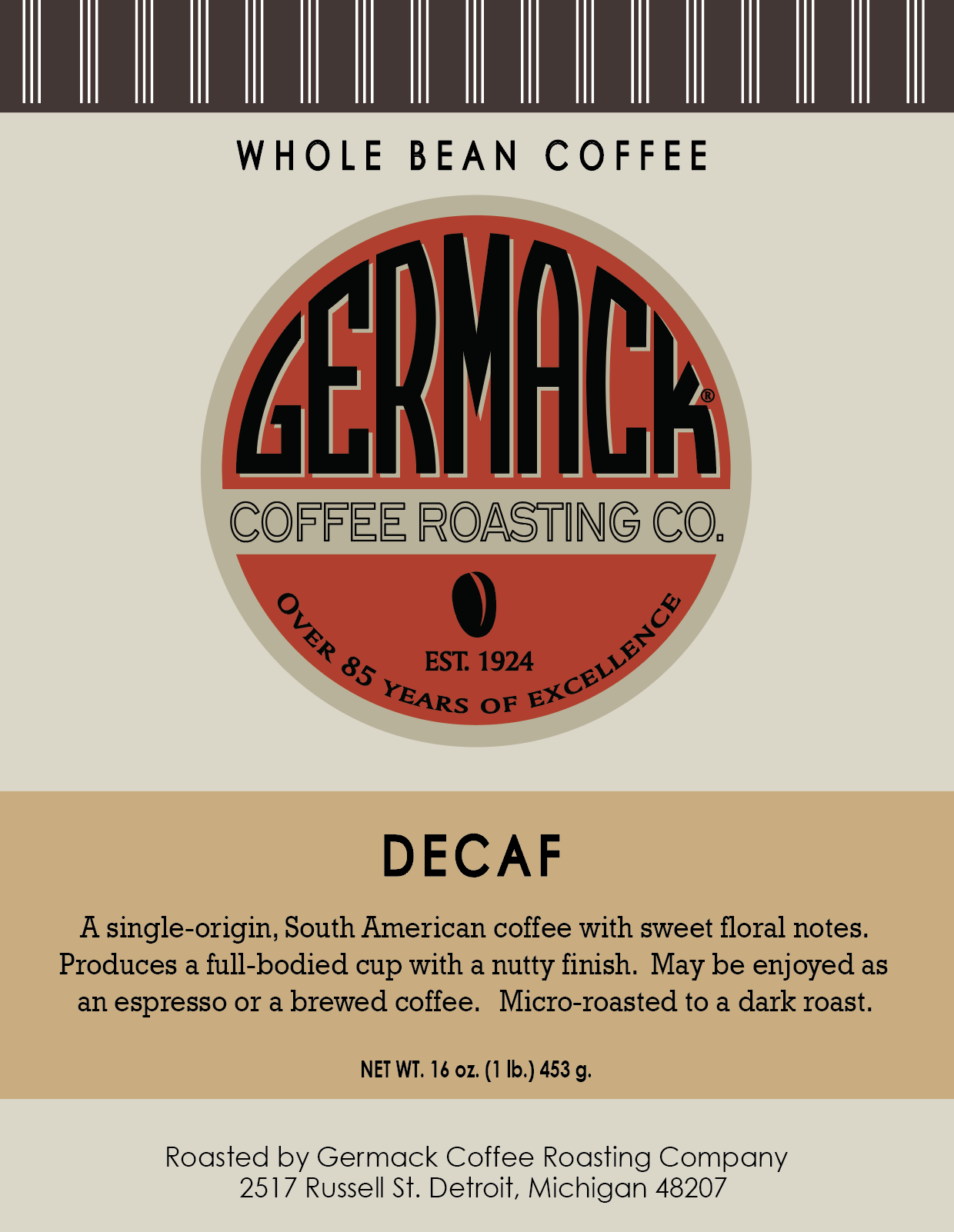 Picture Germack Coffee Decaf - 5lb
