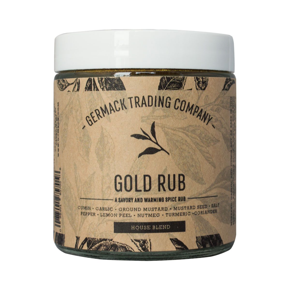 Picture Spice Jar - Gold Rub - (3 oz.)