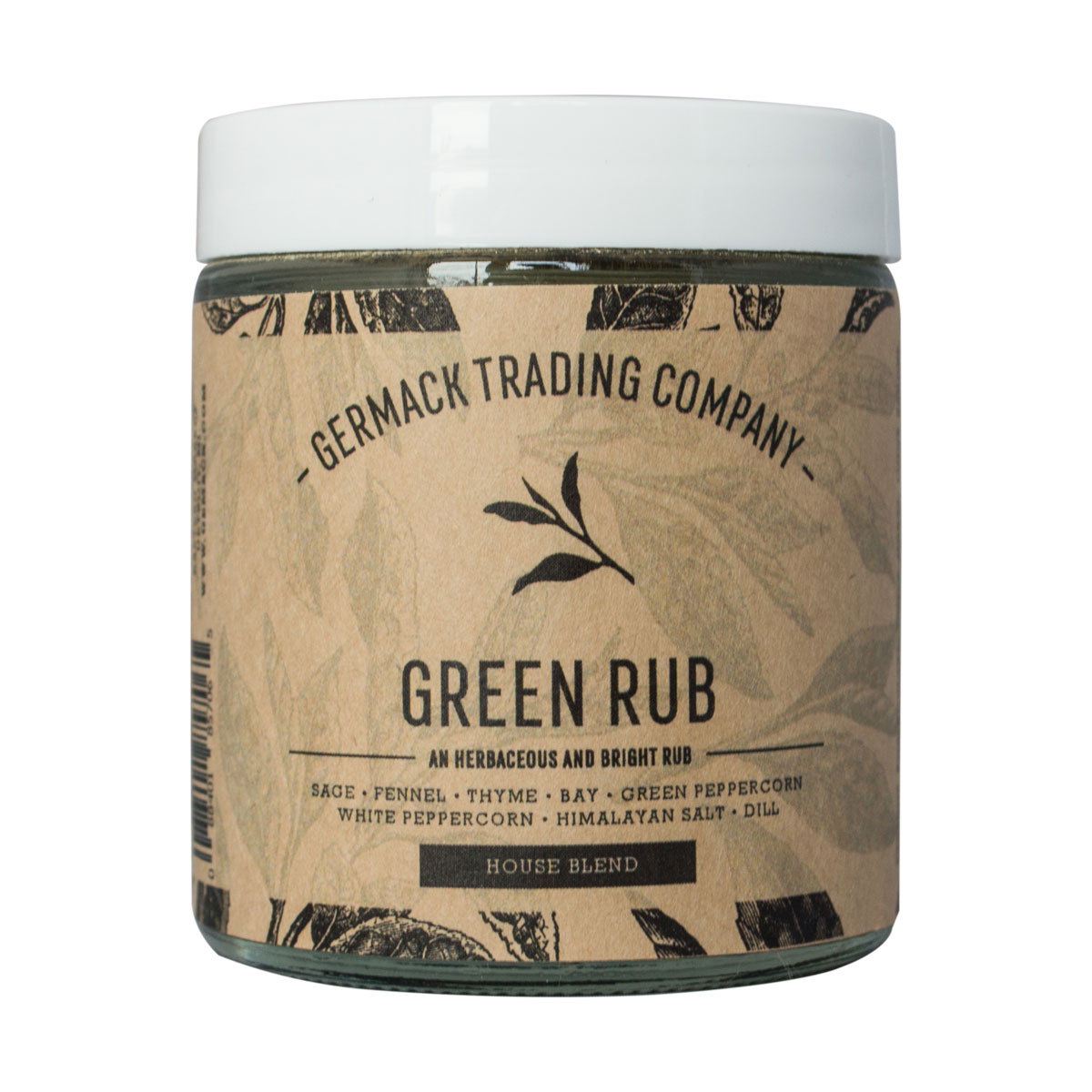 Picture Spice Jar - Green Rub - (2 oz.)