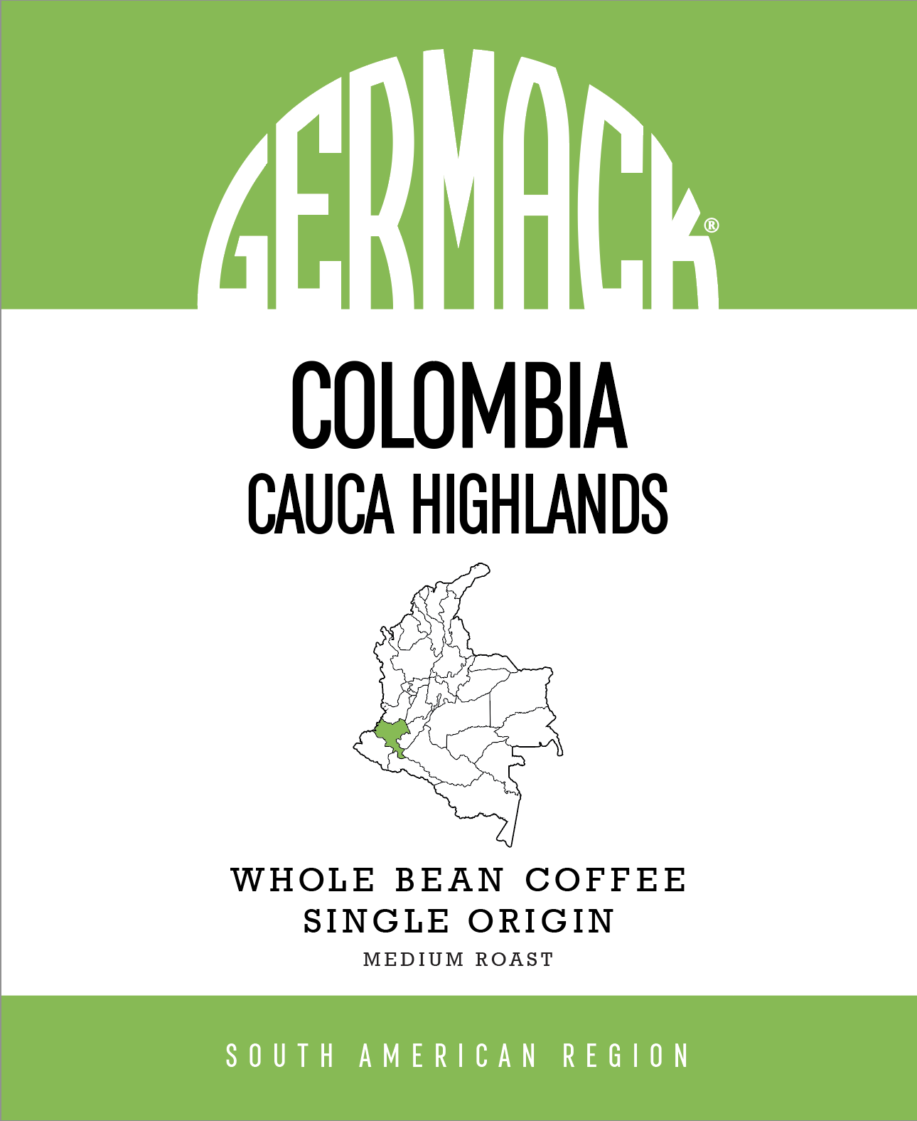Picture Germack Coffee (5 LB.) - Colombia Cauca Highlands