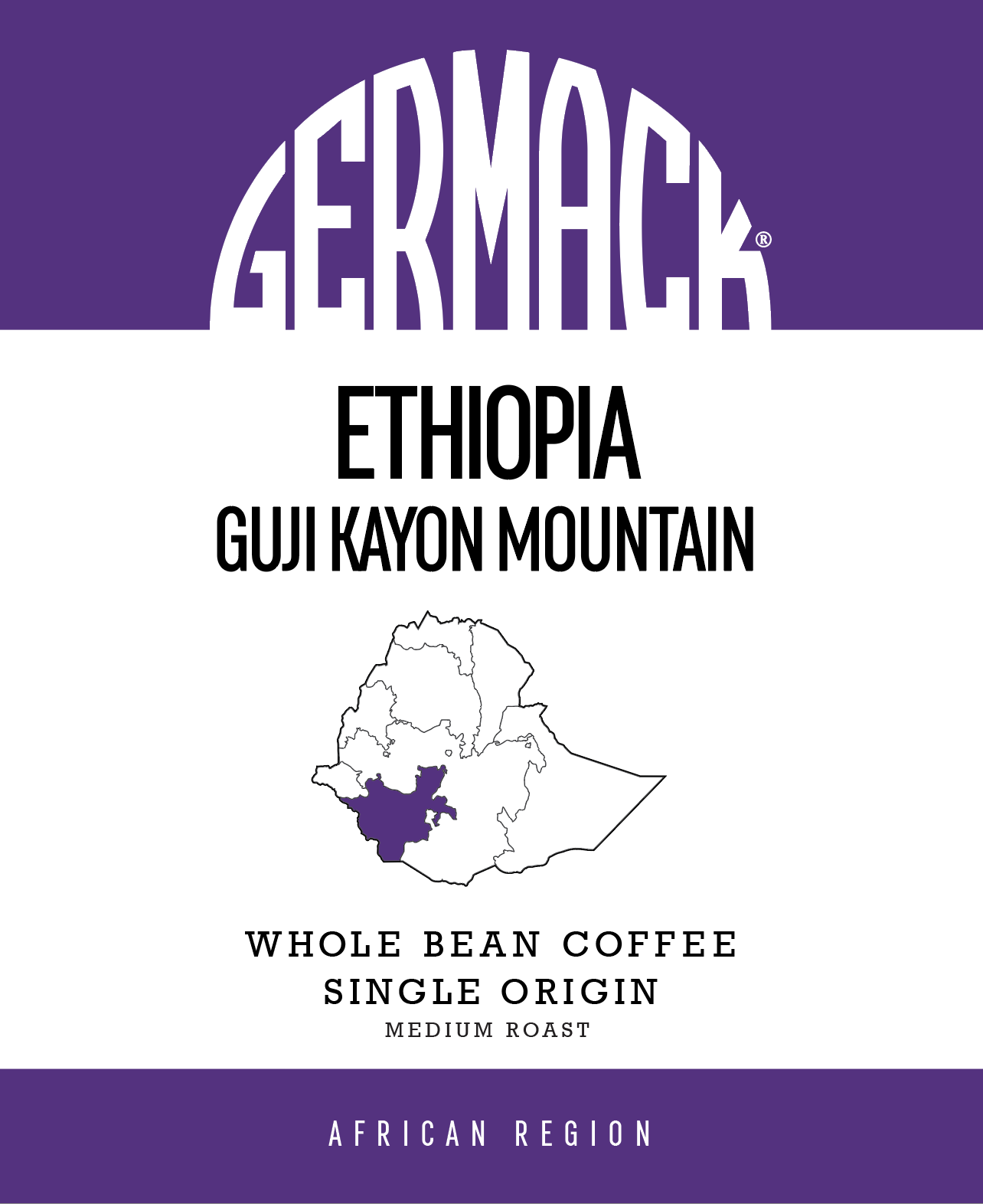 Picture Germack Coffee (5 LB.) - Ethiopia Guji Kayon Mountain