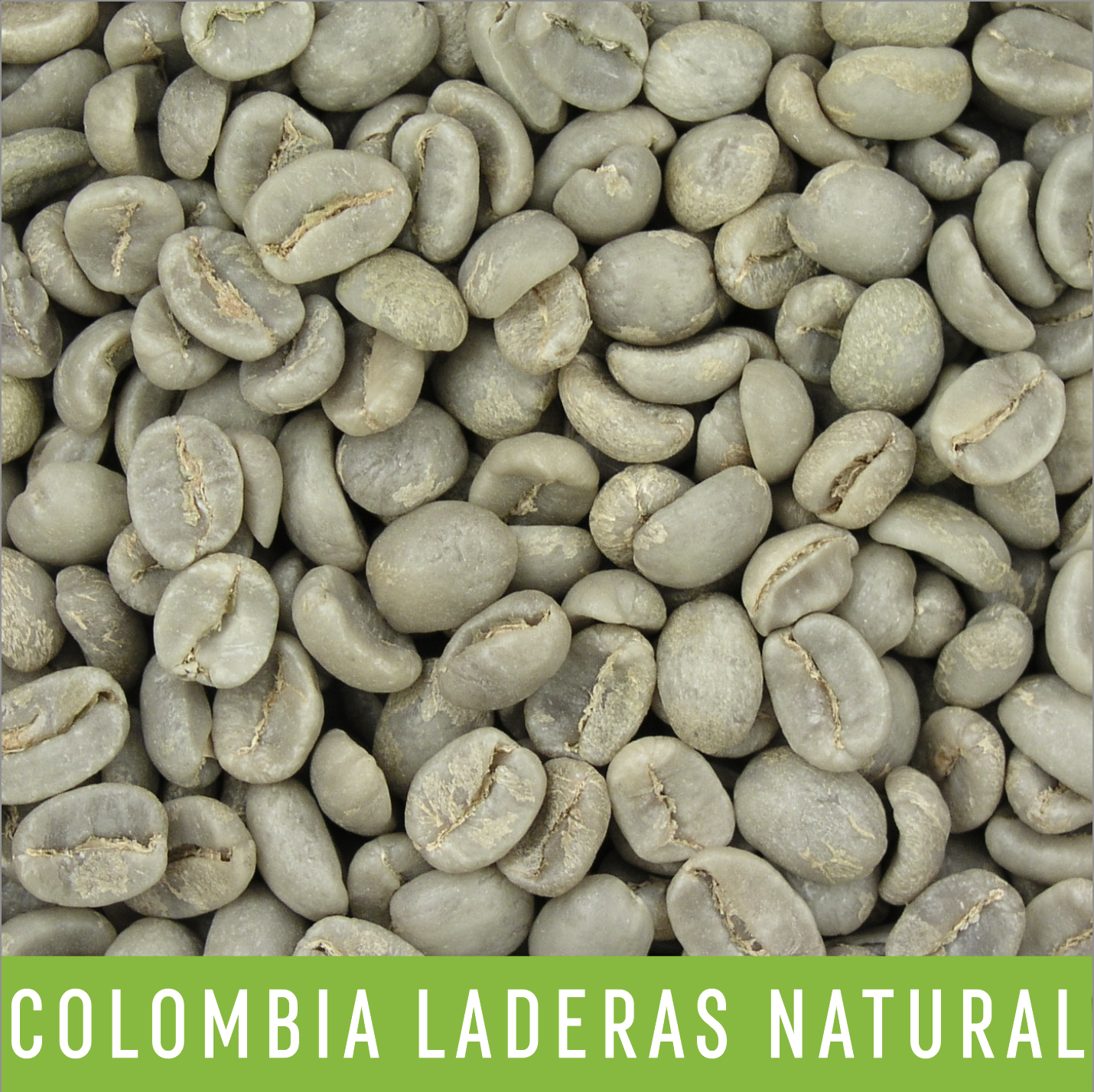 Picture Green Coffee Beans: Colombia Laderas Natural - 1 LB