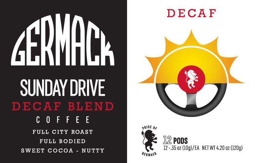 Picture Germack Coffee K-Pods - Sunday Drive (DECAF) - (12 pack)