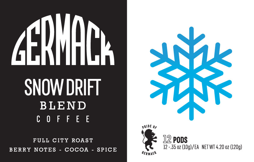 Picture Germack Coffee K-Pods - Snow Drift - (12 pack)