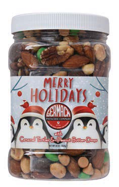 Picture Merry Holidays Jar 18oz 6C