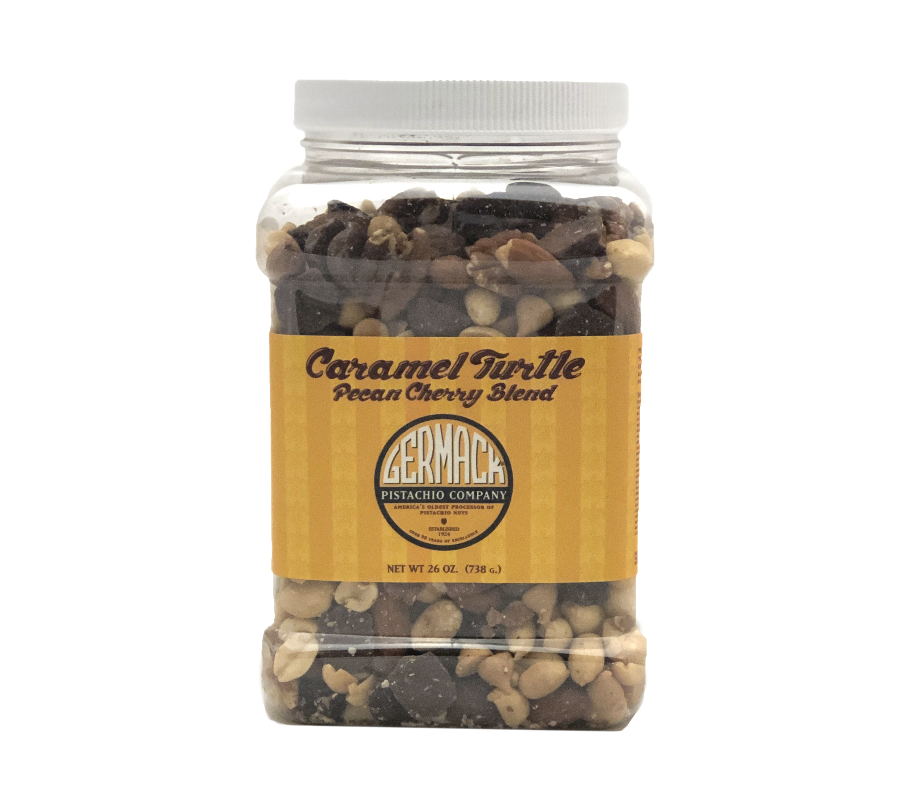 Picture Caramel Turtle Pecan Cherry Blend - 26oz Jar