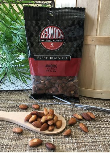 Picture Almonds - Roasted and Salted - 10 oz  C8