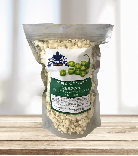 Picture Motor City Popcorn - White Cheddar Jalapeno