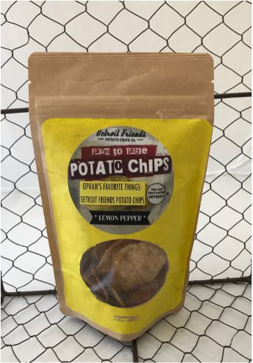 Picture Detroit Friends Potato Chips - Lemon Pepper