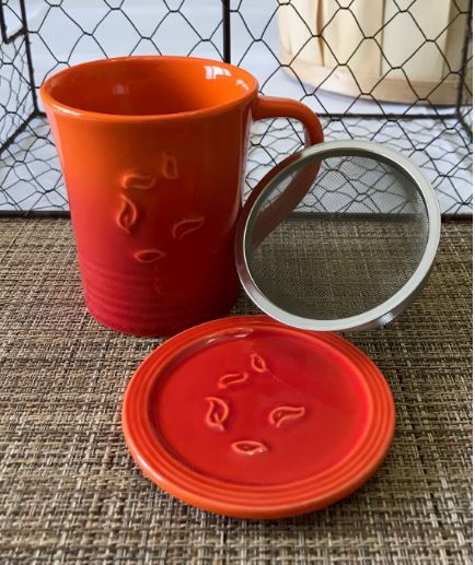 Picture Tea Mug with Infuser Orange 10oz