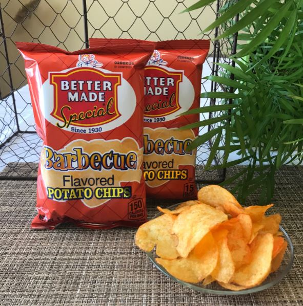 Picture Potato Chips BBQ Better Made (2 - 1oz bags)