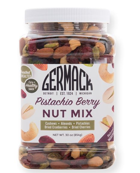 Picture Pistachio Berry Nut mix (Germack Mix) - 30 oz. Jar.