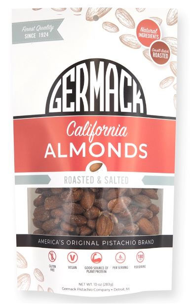 Picture Almonds California Roasted and Salted 10OZ