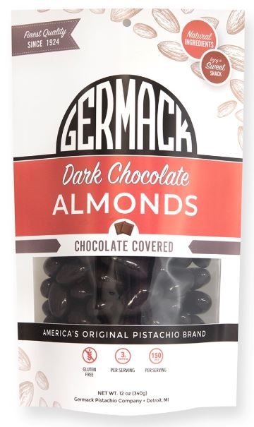 Picture Dark Chocolate Almonds 12oz