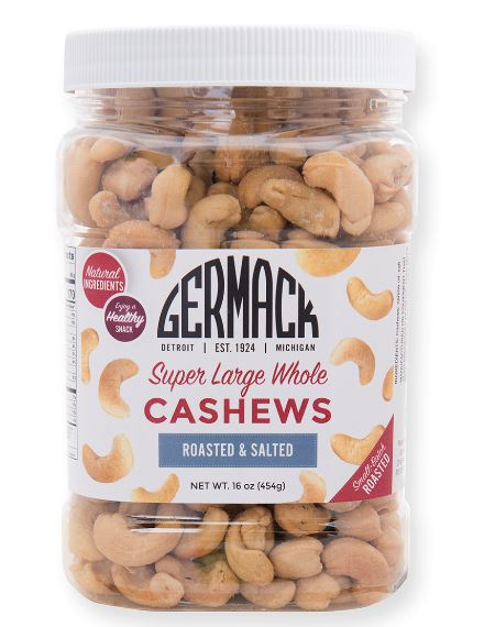 Picture Cashews - Super Large Whole - Roasted, Salted 16 oz