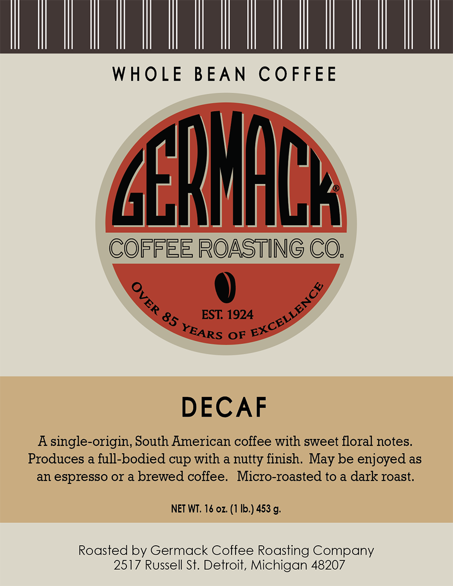 Picture Germack Coffee Decaf - 1 lb