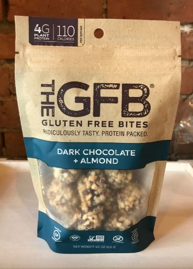 Picture Gluten Free Bites Dark Chocolate + Almond 4oz
